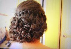 Wedding Prom Hair waterfall braid side romantic updo