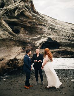 La Push Beach Elopement on the Washington Coast featured on @GreenWeddingShoes by ©ryanflynnphoto www.ryanflynnphotography.net