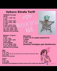 from – 🤗Uykucu Zürafa Tarifi 📣📣📣 Uyku arkadasinin tasarimi bana ait degil. Siparis icin gorselden bakarak… We think … Crochet Bunny Pattern, Crochet Birds, Crochet Patterns, Crochet Baby Toys, Crochet For Kids, Corner To Corner Crochet Pattern, Amigurumi Patterns, Diy For Kids, Crochet Projects