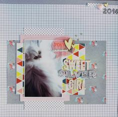 #papercraft #scrapbook #layout - Sweet Silver Girl by bronte10 at @Studio_Calico