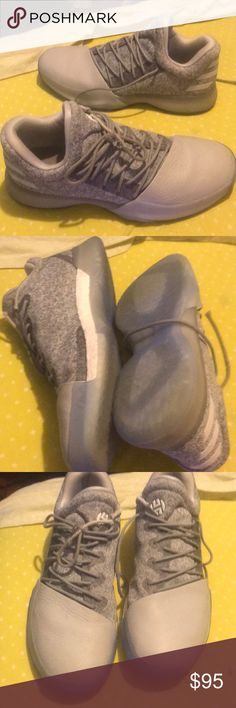 Gray Harden 1s Lightly used shoes that are great for basketball. adidas Shoes Sneakers