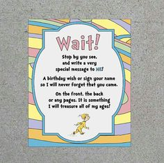 Dr. Seuss Oh The Places You'll Go Party by WendysPaperShoppe
