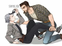 X-men quicksilver x Wolverine