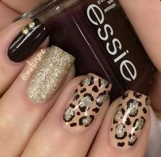 Image via Soft pink and glitter leopard print nail art inspired by the lovely. Image via Leopard nails by vintagemaddness. Image via Leopard nails image Image via Leopard Fancy Nails, Love Nails, Trendy Nails, Diy Nails, Leopard Nail Art, Leopard Print Nails, Leopard Prints, Animal Prints, Creative Nails