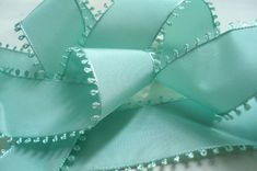 Gorgeous aqua ribbon