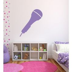 Microphone Music DJ Wall Stickers Wall Art Decal - Musical Instruments - Music