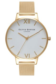 Add a feminine charm to your look with this effortlessly pretty pastel watch.All Olivia Burton watches come with a one year guarantee.*We apologise that Olivia Burton watches are not available for delivery outside the United Kingdom. Furla, Rose Gold Watches, White Watches, Silver Watches, Gold Watches Women, Leather Watches, Red Jewelry, Gold Jewellery, Fashion Jewelry