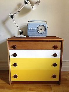Stag Upcycled Retro Painted Chest of Drawers
