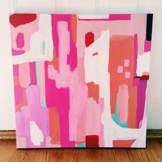 """Check out our web site for additional information on """"contemporary abstract art painting"""". It is actually an exceptional area to find out more. Pink Painting, Painting & Drawing, Painting Lessons, Watercolor Painting, Posca Art, Art Diy, Pink Abstract, Diy Canvas Art, Painting Inspiration"""