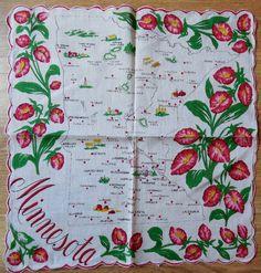 Vintage MINNESOTA State Map Souvenir by CornermouseHouse on Etsy