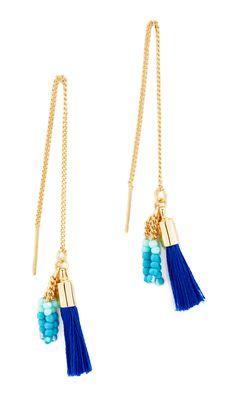 Threader Earrings with Tassels