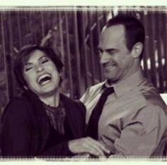Mariska and Chris laughing