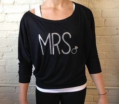 Mrs Shirt, Off the Shoulder Slouchy Sweatshirt, Soft Flowy Shirt, Bride Shirt, Mrs Sweatshirt, Glitter, Bridal Shower Gift, Engagement Gift on Etsy, $29.00