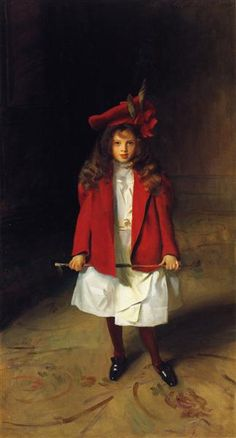 The Honourable Victoria Stanley, 1899 by John Singer Sargent. Realism. portrait. Private Collection