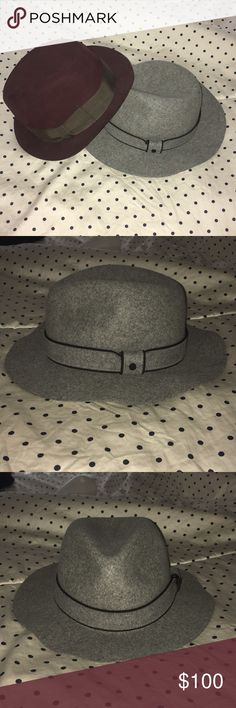 Lot of 2 wool rag And Bone fedora hats euc medium 2 great hats by rag And Bone. Both in great condition. A little linty but no flaws. Dress up your winter outfits with these beauties :) both 100% wool ( not itchy wool but super soft) rag & bone Accessories Hats