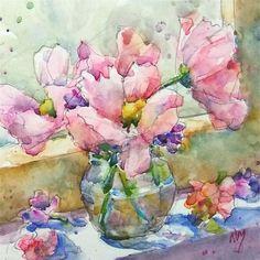 """flower power"" original fine art by Nora MacPhail"