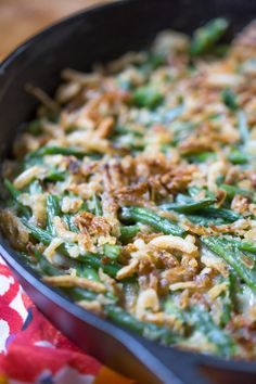 Green Bean Skillet Casserole (Dairy Free, Vegan Option) via @simplywhisked