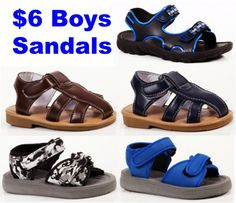 6.00 Sandals for Boys! ~ at TheFrugalGirls.com #boys #sandals
