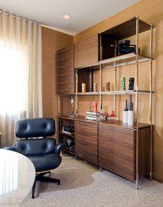 Custom Storage Unit - midcentury - home office - Dc Metro - Studio Santalla, Inc