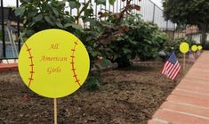 Cheap and Easy DIY Softball Party Decorations for an end of the year pool party along with other budget friendly party ideas. Softball Party Decorations, All American Girl, Budget, Diy Paper, Easy Diy, Inspired, Night, Inspiration, Simple Diy