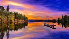 Sunset in Jonsvatent Trondheim Norway by Aziz Nasuti
