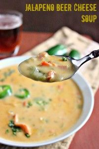 Jalapeno Beer Cheese Soup - Brown Sugar
