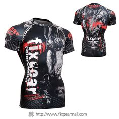 FIXGEAR CFS-30 Compression Base Layer Short Sleeve Shirts Workout Fitness MMA