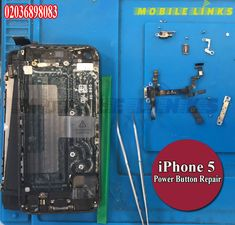 Fix your iPhone 5 or Power Problem while you wait at our shop in a Cheap Price. Call - 02036898083 or visit Mobile Links at 396 Barking Road, East London. Iphone Repair, Laptop Repair, Mobile Phone Repair, Cracked Screen, Power Button, Fix You, Iphone 5s, Buttons, Plugs