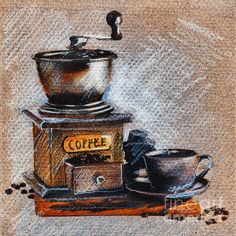 Coffee Grinder / drawing by Daliana Pacuraru