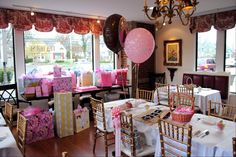baby shower at a tea house. (I love the idea of renting chairs, possibly for garden/outdoor showers or my living room.)