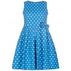 'Mini Grace' Children's Turquoise Polka Party Dress