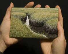 art embroidery - Summer Salt Marsh III by Linda Behar, via Flickr