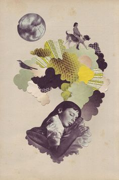Illustration/collage by Eleanor Wood Collage Foto, Dream Collage, Beautiful Collage, Collages, Art And Illustration, Photomontage, Cristiana Couceiro, Collage Design, Digital Collage