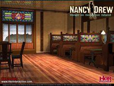 Wallpaper of the Cafe from Nancy Drew: Danger on Deception Island