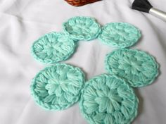 Washable Cotton Facial Rounds  Light Green by Merchant3114 on Etsy,