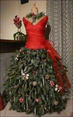Création d'un sapin de Noël robe, sur buste de couture!