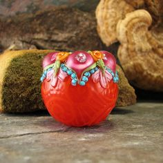 Jaipur Jewels Olikodi ~ Handmade Glass Lampwork Art  Bead Focal by flamekeeper $45.00 on  Etsy<3<3<3