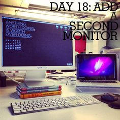 Want to improve productivity? Try adding a second monitor!