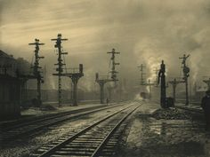 "furtho: "" Léonard Misonne's Sortie De La Gare, Namur, Belgium, 1938 """