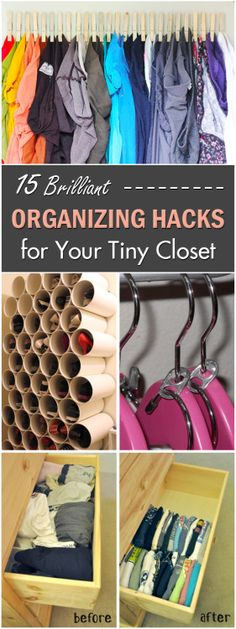 15 Brilliant Organizing Hacks for Your Tiny Closet →