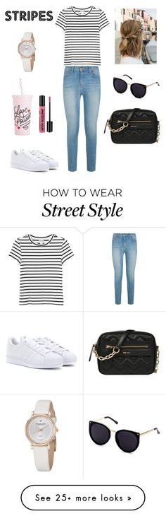 """""""Street style"""" by bren-adsz on Polyvore featuring Current/Elliott, Monki, adidas Originals, NYX, ban.do, Nine West and Stührling"""