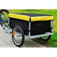 vidaXL Remolque Carga de Bicicletas Negro 50 L Tr/áiler Caravana Carreta Bici
