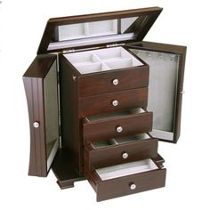 Contemporary Wooden Jewelry Box