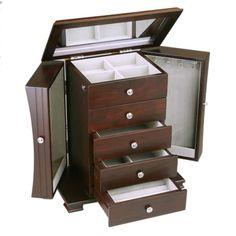 Dark Wood Tall Jewelry Box Jewelry Box Pinterest Tall jewelry