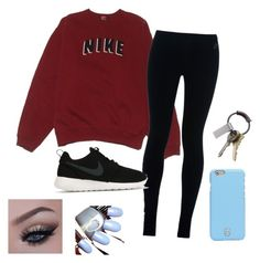 """""""❕❕"""" by arbaugh-madison on Polyvore featuring NIKE, Tory Burch and CB2"""