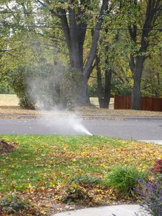 Blowing out the Sprinklers in prep for freezing temps...
