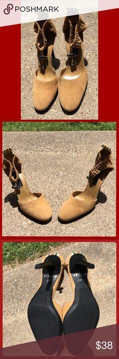Steven by Steve Madden Tan high heels Steve Madden heels. Never been worn! Can list on Ⓜ️erc∇r1 for $6 less (basically free shipping) Steven by Steve Madden Shoes Heels