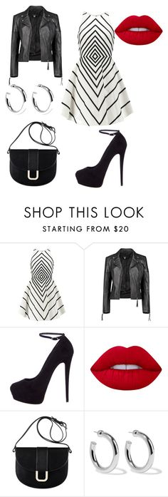 """""""Homecoming"""" by hayla96 ❤ liked on Polyvore featuring Halston Heritage, Boohoo, Giuseppe Zanotti, Lime Crime, A.P.C. and Sophie Buhai"""