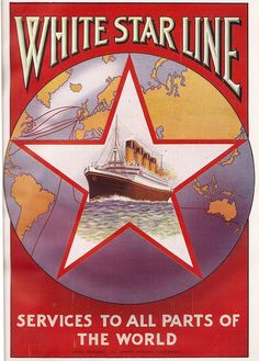 """""""White Star Line - services to all parts of the world"""" ad, 1926"""