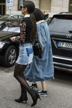You're About to Have a Love Affair With This Denim Street Style Trend POPSUGAR waysify